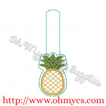 ITH Pineapple Key Fob Embroidery Design