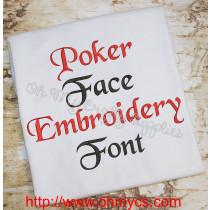 poker face font