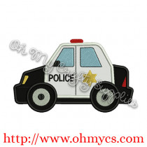 Police Car Applique Design