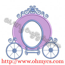 Princess Carriage Applique Design