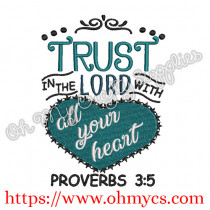 Proverbs 3:5 Embroidery Design
