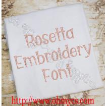 Rosetta Embroidery Font