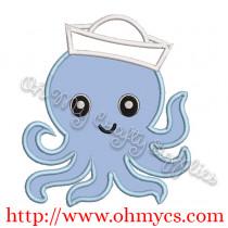 Sailor Octo Embroidery Applique