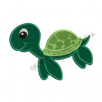 Sea Turtle Applique Embroidery Design