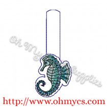 ITH Seahorse Key Fob Embroidery Design