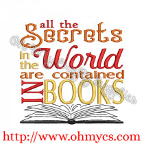 Secrets in the World Embroidery Design