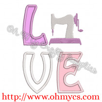 Sewing Love Embroidery Applique