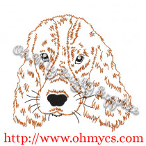 Sketch Cocker Spaniel Embroidery Design