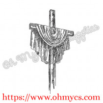 Sketch Cross Embroidery Design