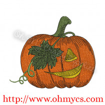 Sketch Jack-O-Lantern Embroidery Design