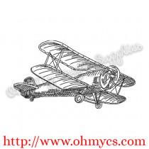 Sketch Plane Embroidery Design