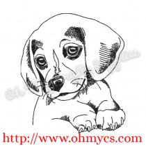 Sketch Puppy Doggy Embroidery Design
