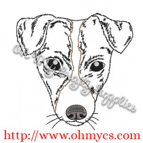 Sketch Terrier Embroidery Design