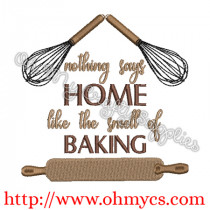Smell of Baking Embroidery Design