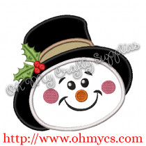 The Snowy Man Embroidery Applique