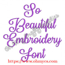 So Beautiful Embroidery Font (BX Included)