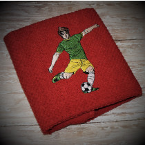 Soccer Player Guy Embroidery Design