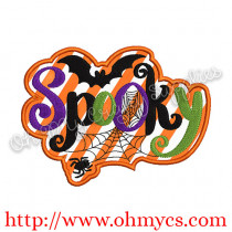 Spooky Spider Applique Design