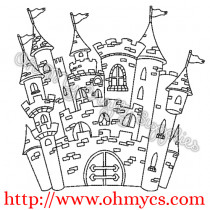 Storybook Castle Embroidery Design