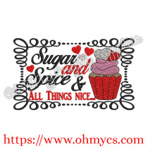 Sugar and Spice & All things Nice Embroidery Design