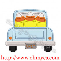Tailgate Candy Corn Truck Applique Design