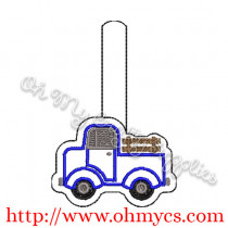 ITH Vintage Truck Key Fob Embroidery Design