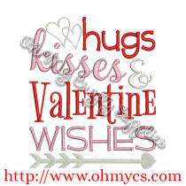 Valentine Wishes Embroidery Design