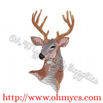 Watercolor Deer Embroidery Design