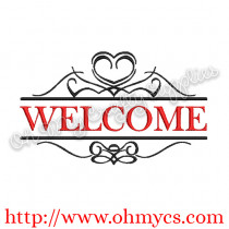 Welcome Frame Embroidery Design