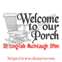 Welcome to our Porch Embroidery Design