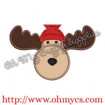 Winter Moose Applique Design
