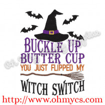 Witch Switch Embroidery Design