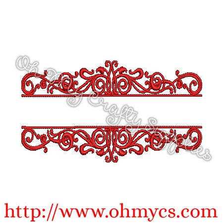 Monogram Type Frame Embroidery Design