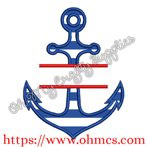Split Anchor Applique Design