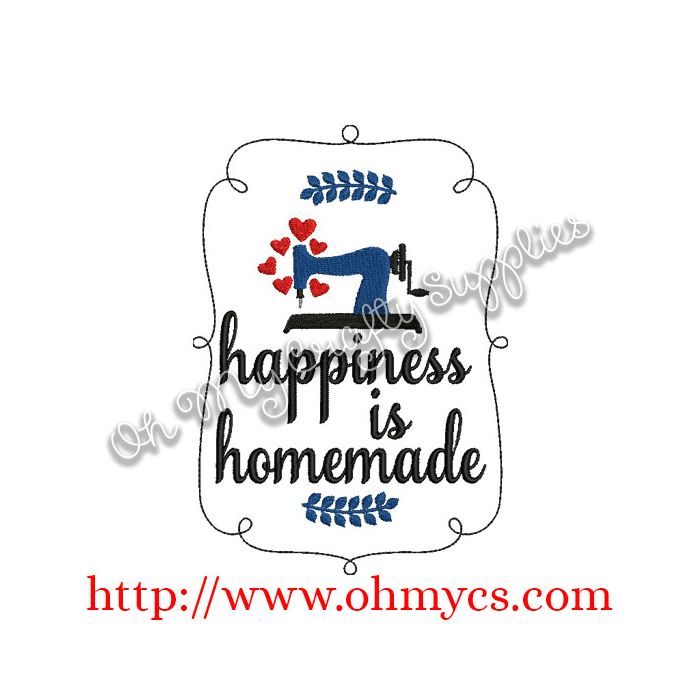 picture relating to Happiness is Homemade titled Joy is Do-it-yourself Embroidery Layout
