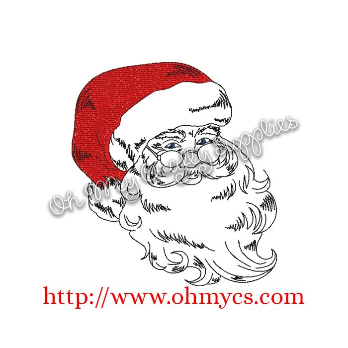 sketch santa claus embroidery design sketch santa claus embroidery design