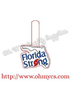 Florida Strong Key Fob Embroidery Design