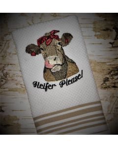 Heifer Sketch Stitch Embroidery Design