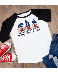 Watercolor 4th of July Gnomes Embroidery Design