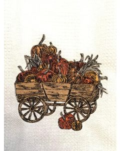 Vintage Pumpkin Wagon Embroidery Design
