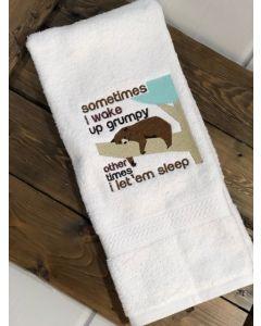 Wake Up Grumpy Bear Embroidery Design
