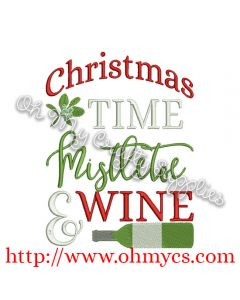 Christmas Mistletoe Wine Picture