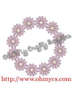 Flower Monogram Frame Picture