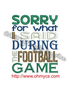 Football Apology