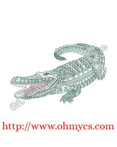 Henna Alligator Picture
