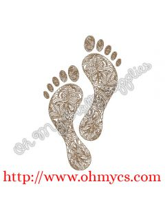 Henna Feet Print Picture