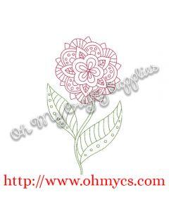 Henna Flower Stem