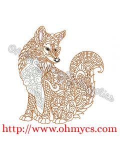 Henna Full Body Fox Picture