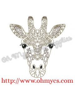 Henna Giraffe Head pic