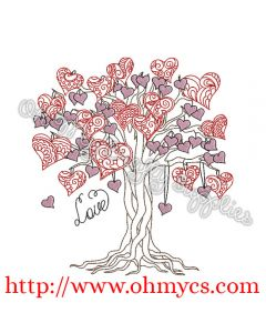 Henna Heart Tree Picture